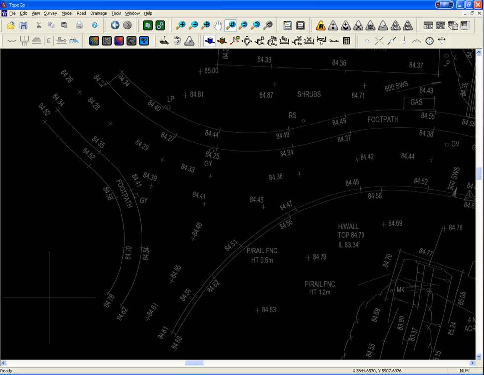 Plan View 2D Road 2